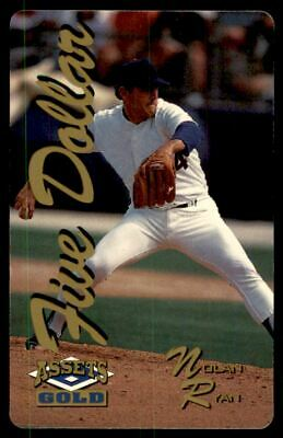 1995 Assets Gold Phone Cards $5 #4 Nolan Ryan