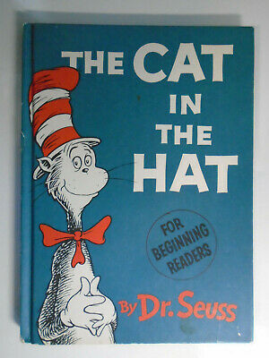 The Cat In The Hat, Dr Seuss, 1st Edition, 1st Print, Paper Covered Boards, 1957