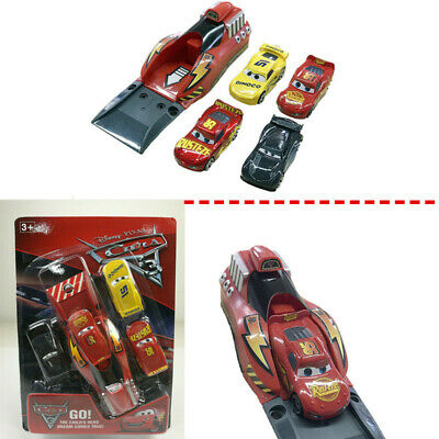 Pixar cars SET 3 Lighting Mcqueen Catapult Launcher 4Pcs cars Kit For Kid Toy AU