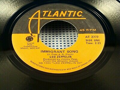 LED ZEPPELIN IMMIGRANT SONG/HEY HEY WHAT CAN I DO 45 RPM
