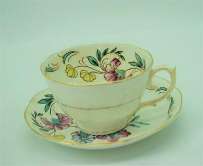Vintage Roslyn Fine  Bone China  Cup/ Saucer - Made in England
