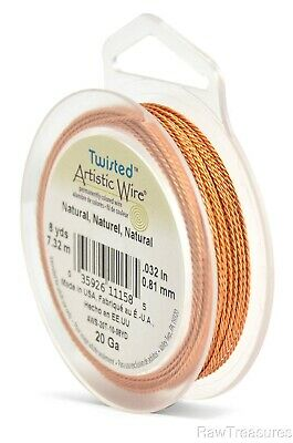 20 gauge  Copper Artistic Wire Twisted Round -24 Feet