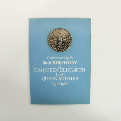 British Royal Mint Queen Mother 80th Birthday Commemorative Collector Coin #454