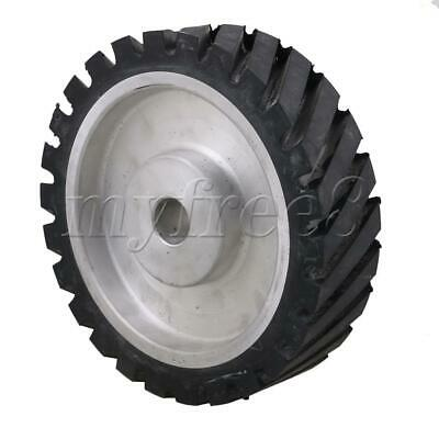 Black and Silver Belt Grinder Rubber Wheel 200mm Outer Diameter 50mm Thickness