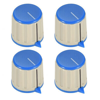 4pcs 6mm Potentiometer Control Knobs For Guitar Volume Tone Knobs Grey Blue
