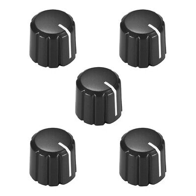 5pcs D type 6mm Potentiometer Control Knobs For Guitar Volume Tone Knobs Black
