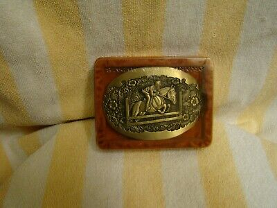 Award Design Medals Equestrian Belt Buckle Solid Brass , 4 Inches x 2.75 Inches