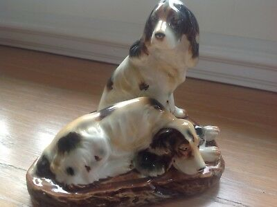 Antique Pair Of Setter Dogs.!!