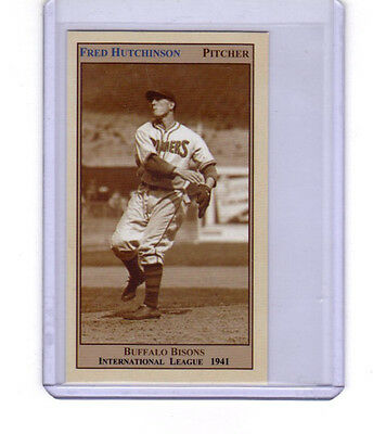 Fred Hutchinson '41 Buffalo Bisons pitcher/outfielder 26 wins & batted .392 🔥