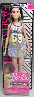 Barbie Fashionistas 110 Tall Los Angeles Dress Kleid FXL50 2018 NEU OVP NRFB