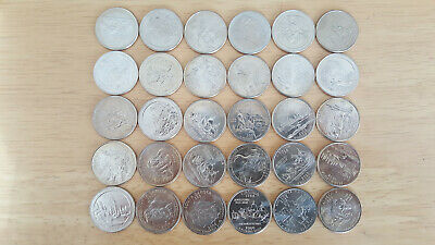 **Usa $7.50 Dollars In Commemorative Quarter X30 Coins**American Holiday Money**