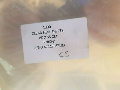 1000 Sheets 80 cm x 55 cm Clear Film Sheets for Florists Crafts