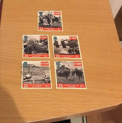 GB QE2 - A full set of USED stamps - 50th Anniversary of D-Day Landings - 1994