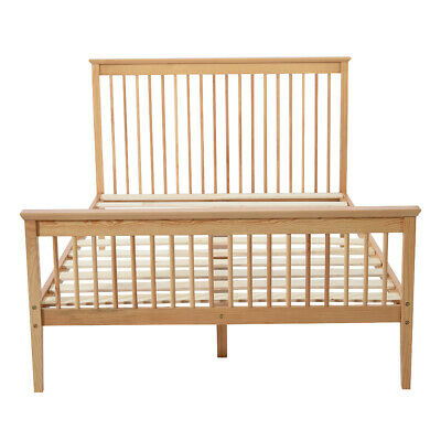 Wooden Small Double Bed Frame 4FT Solid Pine Bedstead With Slats Home Bedroom
