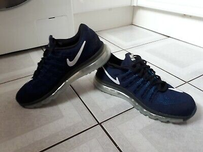 7f66bcb9 MENS NIKE AIR Max 2016 Trainers. Navy White. Size Uk 9. Eur 44 ...