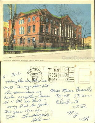 Canada 1953 Halifax,NS Provincial Parliament Buildings Nova Scotia Postcard