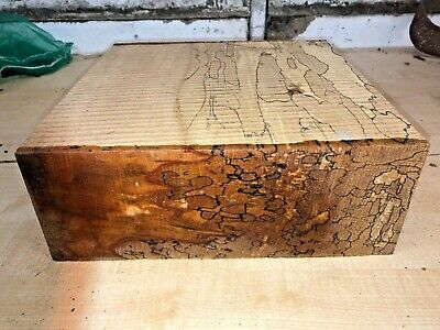 295X295X110Mm Lot 606 Spalted Beech Woodturning Figured Timber Blank