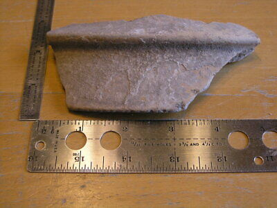 "Ancient pre-columbian Terra-cotta Pottery Bowl Shard 5"" x 2.5 """