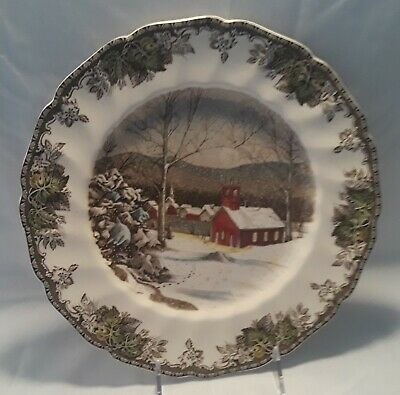 """Johnson Brothers Friendly Village 10¾"""" Dinner Plate (The School House)"""