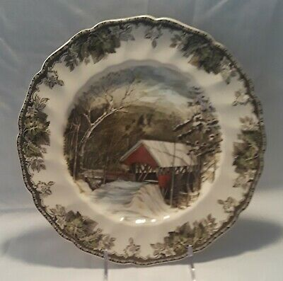 """Johnson Brothers Friendly Village 10¾"""" Dinner Plate (The Covered Bridge)"""
