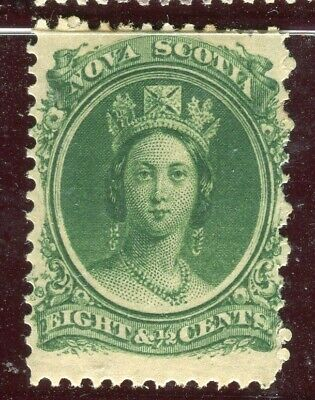 CANADA; NOVA SCOTIA 1860 early classic QV issue fine Mint hinged 8.5c. value