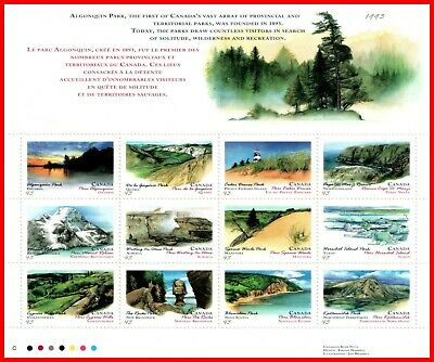 Canada Stamp Mint #1483a- Souvenir Sheet - Provincial and Territorial Parks 1993