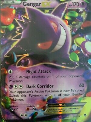 Gengar EX 34/119 XY phantom forces Ultra rare NM. Shiny! Almost mint condition.