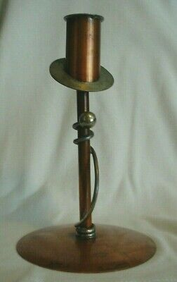 Antique Arts and Crafts Handmade Candle Holder By Flemish Copper B.P.Co. 4005