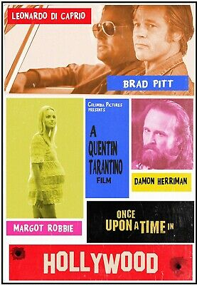 Once Upon A Time in Hollywood  Poster  13x19 inches G