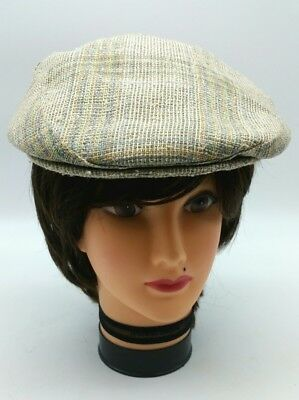 78cfb4c0 Vintage Trav'ler by Country Gentleman Cream Pastels Cabbie Newsboy Hat Cap  109