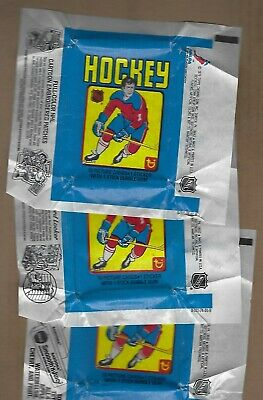( 3 )  1979-80  Topps  Hockey   Wax Wrappers    Very Clean