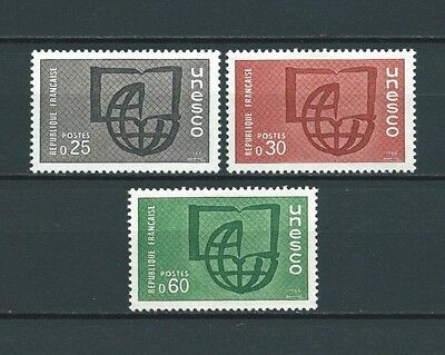 FRANCE SERVICE - 1966 YT 36 à 38 - TIMBRES NEUFS** LUXE