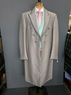 Mens Silver Grey Frock Coat Taped Edge....size 42/44
