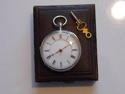 Beautiful Antique Mid Size London Hallmarked Silver Fusee Pocket Watch Date 1879