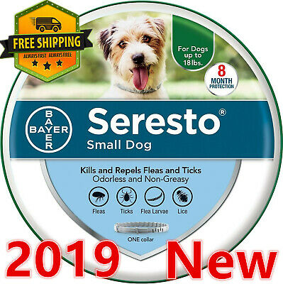 Bayer Seresto Flea and Tick Collar for Small Dogs Up to 18 Ibs Free Shipping