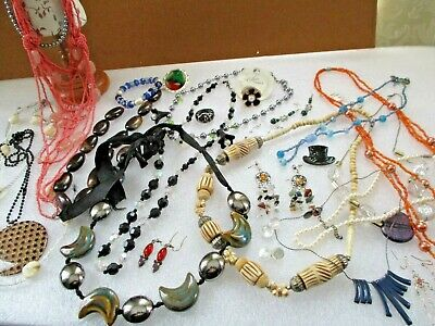 Mixed Job Lot Costume Jewellery,Necklaces,Earrings,Rings