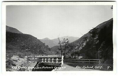 1920s RPPC OLD BALDY,BRIDGE,SAN ANTONIO CANYON nr. UPLAND CA~REAL PHOTO POSTCARD