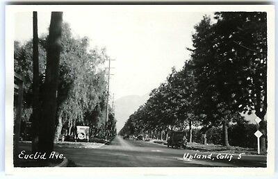 1920s UPLAND CALIFORNIA EUCLID AVENUE SAN BERNARDINO CO~RPPC REAL PHOTO POSTCARD