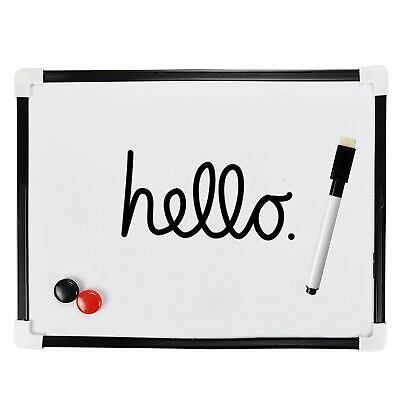 A4 Dry Wipe Magnetic Whiteboard Mini Office School Notice Drawing Board & Eraser