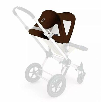 Bugaboo Cameleon Breezy Dark Brown Canvas Sun Canopy Pushchair Pram Accessory