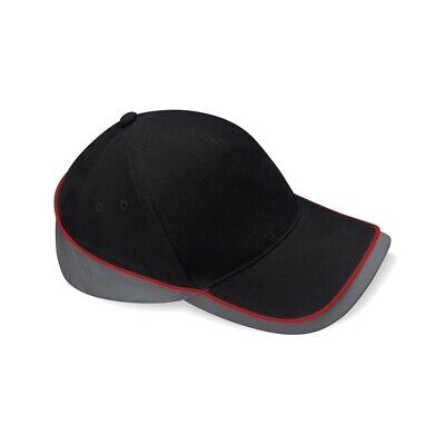 Beechfield Teamwear Competition Cap Black/graphite/classic Red O/s
