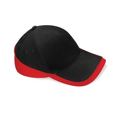 Beechfield Teamwear Competition Cap Black/classic Red O/s