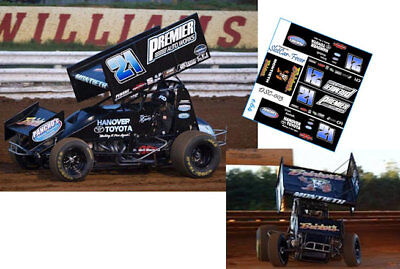 CD/_SC/_097 #19 Brent Marks   M/&M Painting Sprint Car   1:24 DECALS