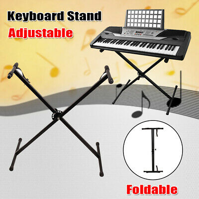 Piano Keyboard X Stand Electric Organ Rack Folding Adjustable For 49 61 76 Key