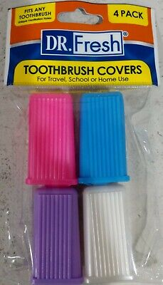 72 units of Dr. Fresh Toothbrush Covers, Set of 4 covers in each unit