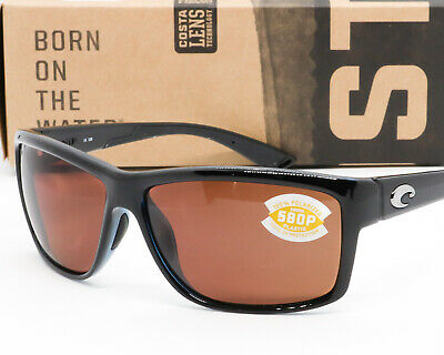 135633f89dfa NEW COSTA DEL MAR MAG BAY SUNGLASSES Black frame / Copper 580P Polarized  lens