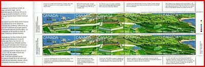 Canada Stamp Mint Full Booklet(BK175)  #1551b(1547-51) - Fortress of Louisberg