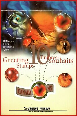Canada Stamp Mint Partial Booklet(BK182)  #1569a(1568-69) - Greetings Booklet