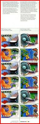 Canada Stamp Mint Full Booklet(BK191)  #1598a(1595-98)  High Technology Industry