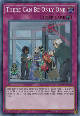 Yugioh There Can Be Only One EXFO-EN076 1st Super Rare Near Mint Fast Shipping!